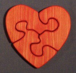 Amazon.com: Wooden Educational Jigsaw Puzzle - Small Heart