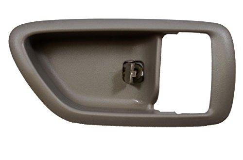 PT Auto Warehouse TO-2901G-2RH – Inside Interior Inner Door Handle Trim/Bezel, Gray (Charcoal) – Passenger Side