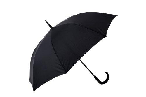 The Unbreakable(アンブレイカブル) 長傘 ジャンプ傘 Standard Walking-Stick Umbrella Crooked Handle Black DU-115