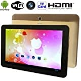 Alcoa Prime GT10K Golden, 10. 1 Inch HD Capacitive Touch Screen Android 4. 1 Tablet PC, Dual Cameras, 1GB RAM...