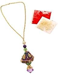 Voylla Lumba Rakhi For Women Featuring Purple Stone Drop