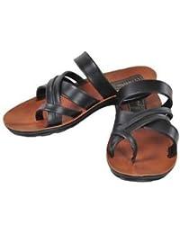 VKC Pride Men's Tan Flip Flops & House Slippers (5687 A)