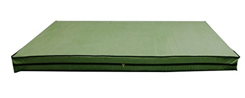 Glassiano Dust & Water Proof Twin Size(36''X75''X5'') Green Zipper Mattress Cover - Set Of 2pcs