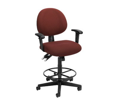 Extended Use Computer Task Chair w Arms & Drafting Kit