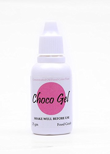 Sugarin Candy Color Choco Gel For Chocolate And Oil Based Products, Pink, 25 Grams