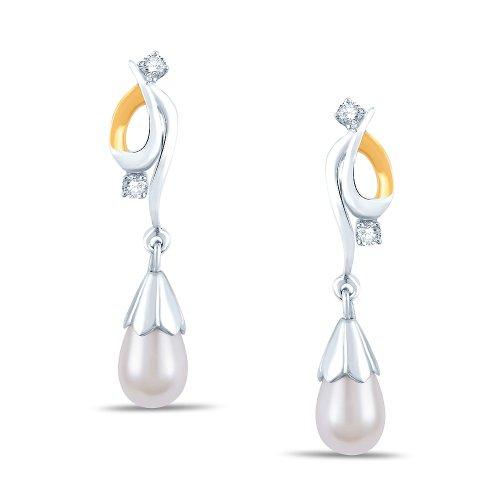 Jashn The Simora Drop Earring In Sterling Silver With Swarovski Diamond # JNESC013