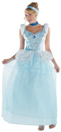 Halloween 2017 Disney Costumes Plus Size & Standard Women's Costume Characters - Women's Costume CharactersDisguise Disney Cinderella Adult Deluxe Costume, Light Blue/White, Large/12-14