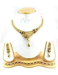 Perk Art Jewels Silver Gold Metal Beads Stone Bangle For Women - B01JPEGU82