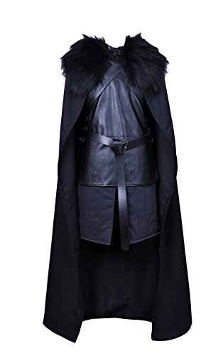 Game of Thrones Jon Snow Knights Watch Cosplay Costume