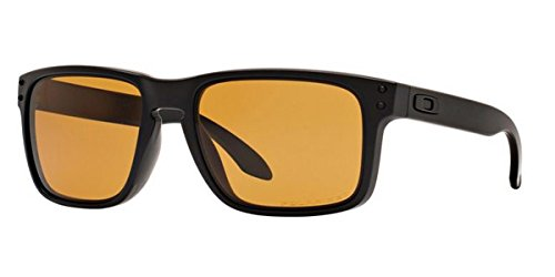 Oakley Mens Holbrook Polarized Matte Black/Bronze, One Size