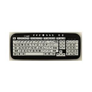 EZSee By DC: New And Improved - Large Print Computer Keyboard Wired USB White Keys With Black Jumbo Oversized...