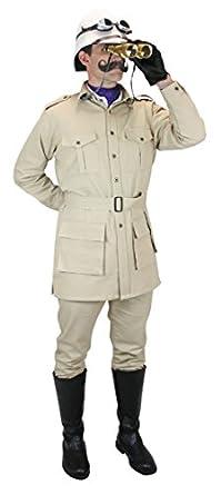 Men's Vintage Style Coats and Jackets Cotton Canvas Safari Bush Jacket $74.95 AT vintagedancer.com