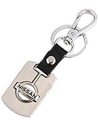 Parrk Nissan Leather Metal Keychain