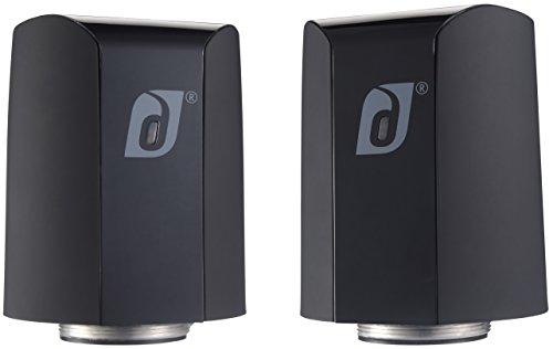 Damson Jet Portable Wireless Stereo Speaker Pair Black And White Black