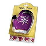 Ann Clark Mitten Shaped Silver Cookie Cutter Tin Metal 28-006 Size 4 ½ Inches Quantity 1 Silver