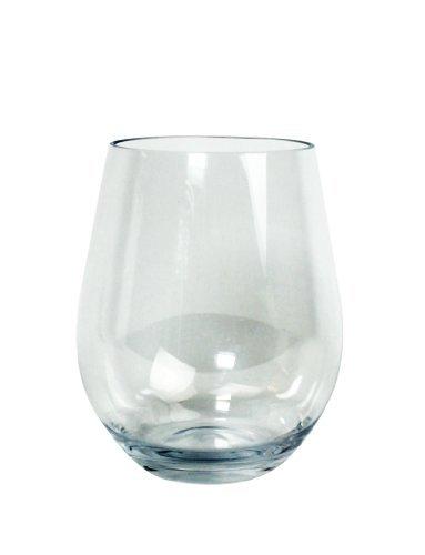 Unbreakable Wine Glasses - 100% Tritan - Shatterproof, Reusable, Dishwasher Safe (Set of 8 Stemless) by D'Eco