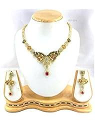 Perk Art Jewels Silver Gold Metal Beads Stone Bracelet For Women - B01JPERZLS