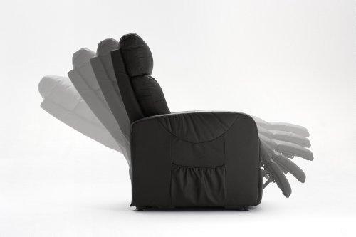 1-1-2-1378: schöner TV-Sessel - Fernsehsessel - mit Aufstehhilfe - elektrisch verstellb. - Ruhesessel - Kunstleder schwarz
