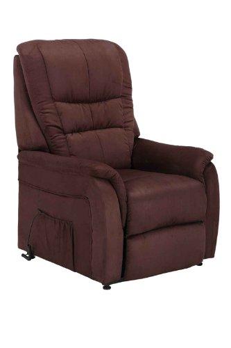 Fernsehsessel Relaxsessel Sessel mit Aufstehhilfe Microfaser braun ca.83,5x80x111cm (BxTxH)