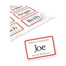 Avery Flexible Self-Adhesive Laser/Inkjet Name Badge Labels,