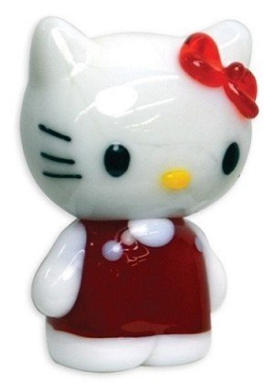 Looking Glass Hello Kitty Red Dress Glass World Toy Figure