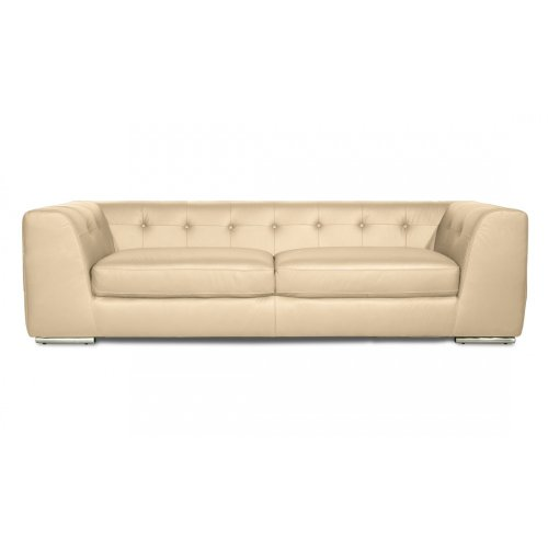 FASHION FOR HOME 3-Sitzer Sofa Yorkville Leder Beige