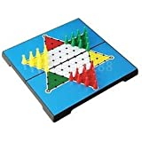 Traditional Family Board Game Foldable Hexagon Checkers Magnetic Game Set