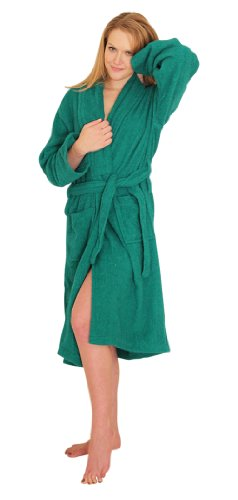 Women's and Men's Terry Cloth Bath Robe 100% Cotton