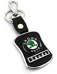 Techpro Premium Quality Leatherite Keychain With Skoda Design