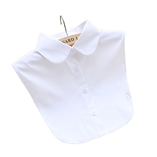 Great Group Halloween Costumes: The Addams Family - SDS Lady's Half-Shirt Detachable Fake Collar (Round White)