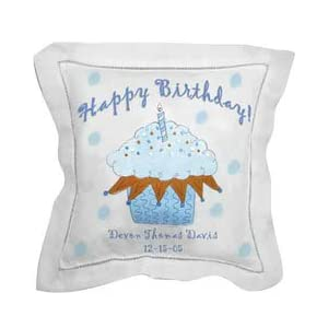 Personalized Birthday Cupcake Pillow