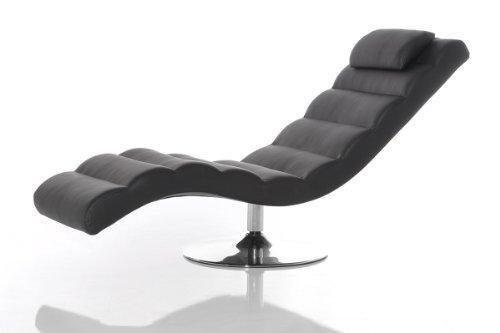 Relax Liege Luxor 170x60 cm Schwarz Chaiselongue Design Liege