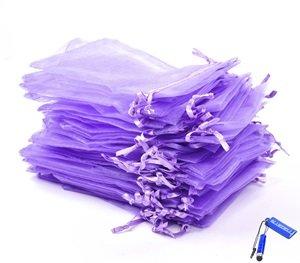 Pack of 50 Purple Organza Gift Bag 4 x 5