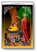 Day of the dead Halloween party invitation Card