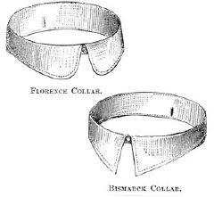 Men's Vintage Reproduction Sewing Patterns 1869 Mens Florence & Bismarck Collars Pattern $2.25 AT vintagedancer.com
