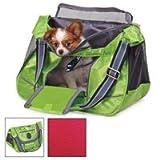 Sherpa SPORT SACK Messenger/Courier Style Pet Dog Cat Kitten Ferret Rabbit Carrier bag & tote. Color-green,Size Medium 17.25