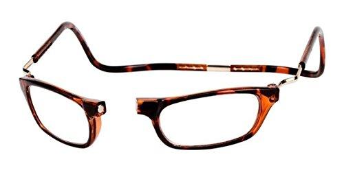 Clic XXL Magnetic Reading Glasses in Tortoise, +2.50