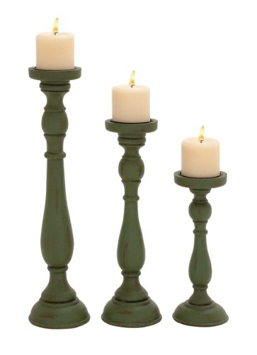 Set Of Three Lovely And Antique Candle Holders