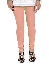 Anuradha Industries Fashions Women's Cotton Leggings_vc017_Peach_Freesize