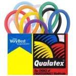 Qualatex Balloons, 2X60-Inch, 100 Per bag, Assorted Pink, Pastel Blue, White, Onyx Black, Quartz Purple, Ruby Red, Citrine Yellow and Mandarin Orange
