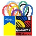Qualatex Balloons, 2X60-Inch, 100 Per bag, Assorted Pink, Pastel Blue, White, Onyx Black, Quartz Purple, Ruby Red, Citrine Yellow and Mandarin Orange