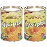 Miviprot Protein Powder (Mango) - 200 Gm (with DHA, Vitamins & Minerals) (Pack Of 2)