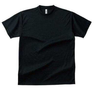 (グリマー)glimmer メンズ ドライ Tシャツ スポーツやトレーニング時に大活躍 抜群の 吸汗性と 速乾性能 ブラック LL