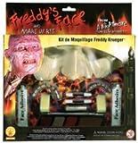 A Nightmare On Elm Street Freddy Krueger Makeup Kit, Brown, One Size
