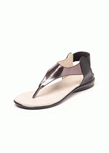 Do Bhai Women's Black PU Sandals