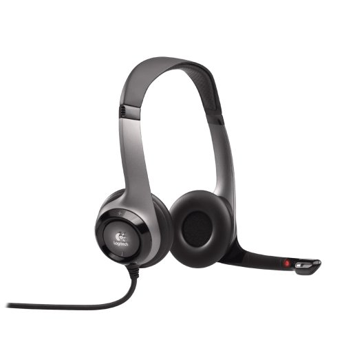 Logitech ClearChat Comfort USB Headphones with Microphone for Voice Speech Recognition and Garage Band Music Recording