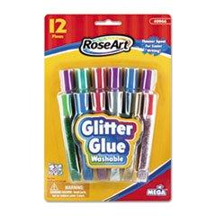 RoseArt 40066 Washable Glitter Glue Pens, Assorted, .36 oz T