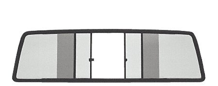 CRL Duo-Vent Four Panel Truck Slider with Light Gray Glass for 1973-1987 Chevy/GMC CK Truck