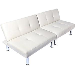 Cream 2 Seater Sofa Bed