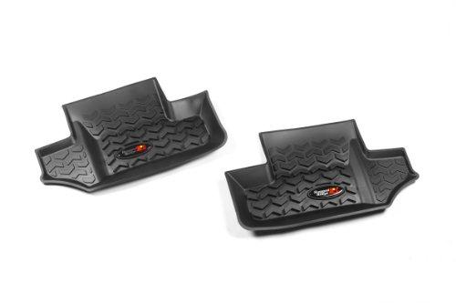 Rugged Ridge All-Terrain 12950.02 Black Second Row Floor Liner For Select Jeep Wrangler Models